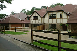 Two detached new build houses in Badgers Mount, Sevenoaks, Kent