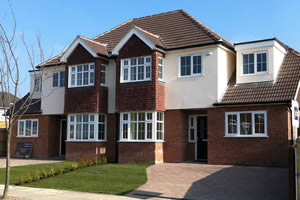New build semi-detached houses in Orpington